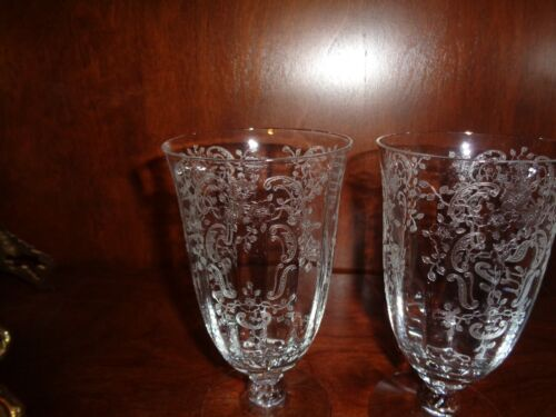 ? Fostoria ?Cambridge Glass Water Iced Tea Goblets Set of 5 EUC