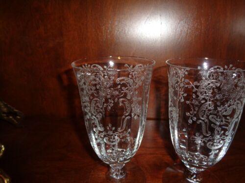 ? Fostoria ?Cambridge Glass Water Iced Tea Goblets Set of 5 EUC