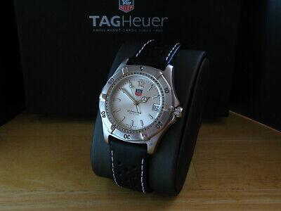 TAG HEUER 2000 FULL SIZE SILVER DIAL NEW BATTERY & STRAP EXCELENT CONDITION