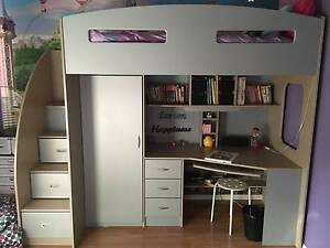 """Harvey Norman """"Odessey"""" space saver single bunk/loft bed Tapping Wanneroo Area Preview"""