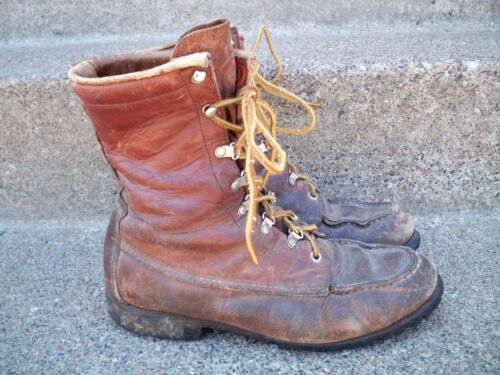 Vintage 1960s RED WING IRISH SETTER Sport Work Boots 7-Inch Moc Toe Boot Size 8