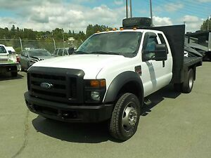 2008 Ford F-450 Sd Xl SuperCab 4WD Diesel Dually 10 Foot Flatbed