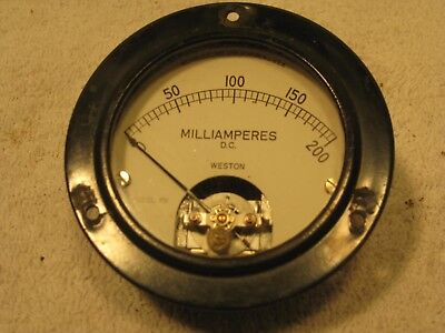 Vintage Weston 0-200 D.c. Milliamperes Gauge