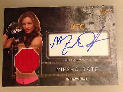 2016 Topps Ufc Top Of The Class Miesha Tate Autograph Relic