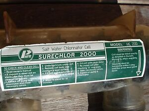 Salt water chlorinator cell, Poolrite Surechlor 2000 HC200 Grafton Clarence Valley Preview