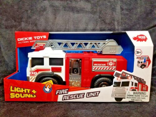 NEW! Dickie Toys Light and Sound Fire Rescue Unit - christmas kids gift truck