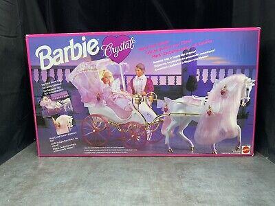 Vintage Mattel 1992 NEW Barbie Crystal Horse & Carriage Play Set #10142