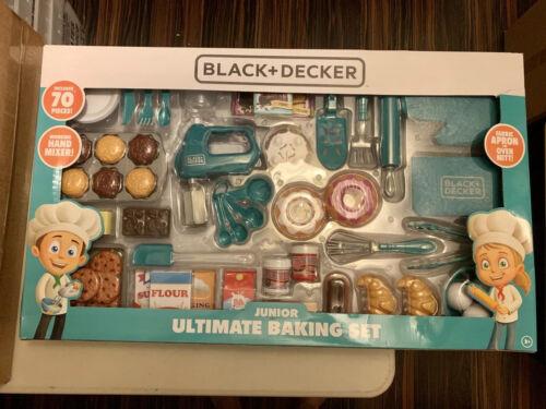 NEW Black+Decker 70-Piece Baking Play Kitchen Set