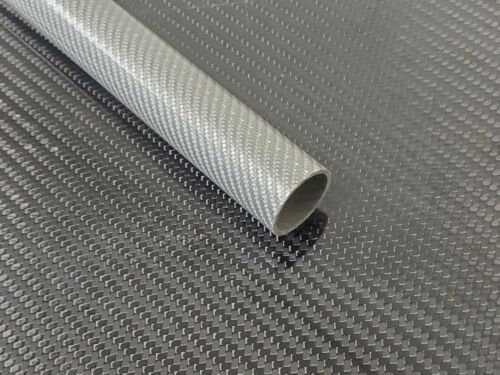 Silver Glass Tube Weave 1.12 x 1.30 x 36 inch (listed 8-28-19)