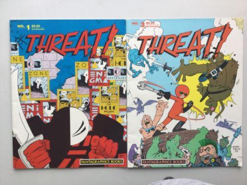Fantagraphics Books 1986 Threat! 1-10 Missing Book 2 Underground Magazine VF/FN