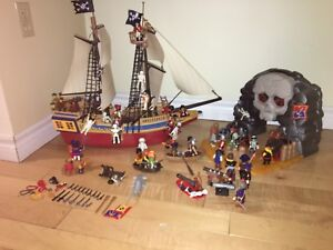Playmobil Pirate ship, skull island, accessories, plus, plusx