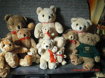 Konvolut von 14 Teddys