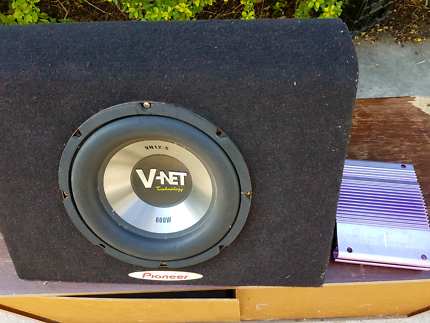 Car sub and amp 12inch sub 600w and 240w 2 channel amp