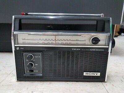 Vintage Sony TFM-7300W  FM/AM Radio WORKS
