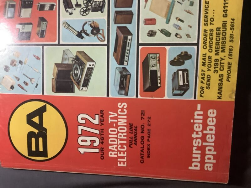Burstein-Applebee BA Radio-TV Electronics 1972 Catalog