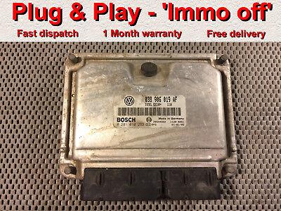 Skoda Fabia 19 tdi Diesel ecu 038906019AF 0281010289 Plug  PlayImmo off