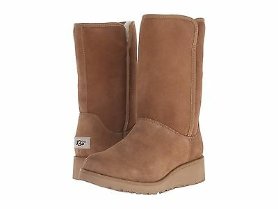 (Women's Shoes UGG Classic Slim AMIE Short Boots 1013428 CHESTNUT *New*)