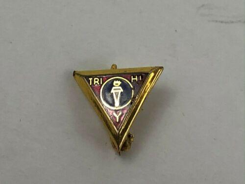 Vintage Official YMCA Tri Hi Y Lapel Pin Small Tie Tac  K3