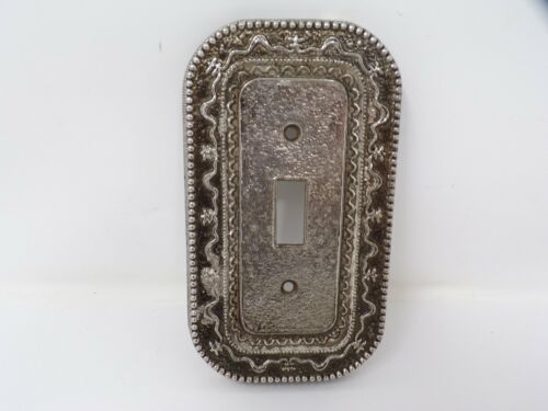 Vintage ornate metal wall light switch decorative cover plate   433b