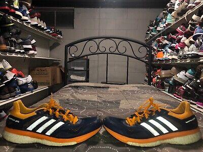 Adidas Supernova Glide 8 Mens Athletic Running Shoes Size 10.5 Blue Orange Gray Adidas Supernova Glide Shoes