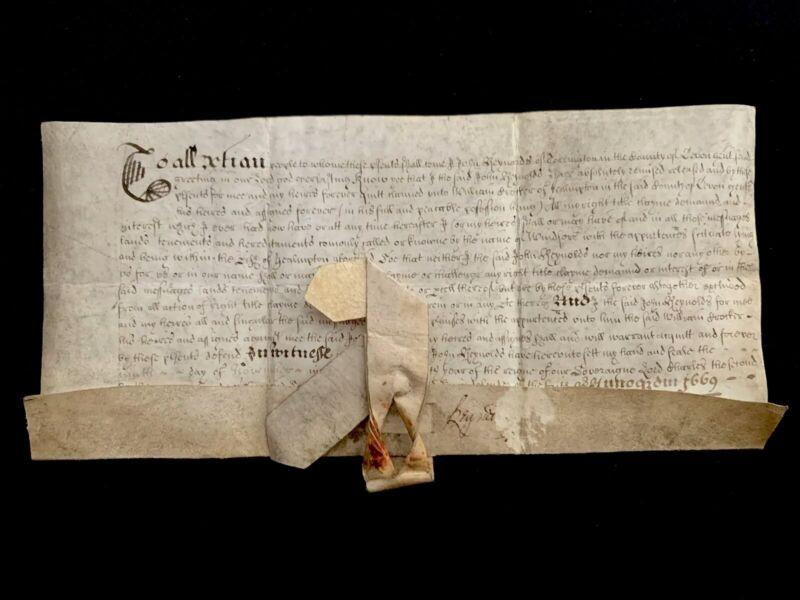 ANTIQUE  VELLUM 1669