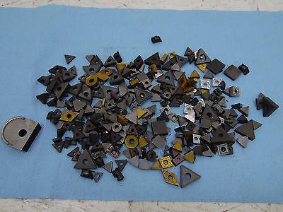 Lot Of 4 Lbs. Plus Assorted Carbide Insert Bits Iscar Seco Kennametal Greenleaf