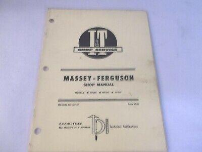 It Massey Ferguson Mf205 Mf210 Mf220 Shop Service Manual