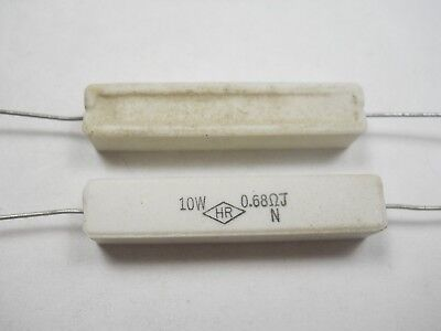 0.68 Ohm 10 Watt 5 Cement Power Resistor Nosnew Old Stockqty 10 Ead5