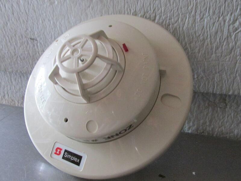 SIMPLEX Fire Smoke Alarm Base 2098 9211, Heat Detector Head 4098 9407