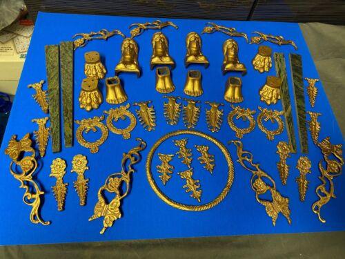 Set of 41 Brass Cast Ormolu Furniture Mount