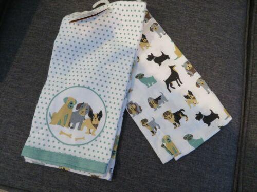 Envogue Basset Hound Dachshund PUPPY Dog Kitchen Towel Set of 2 NWT
