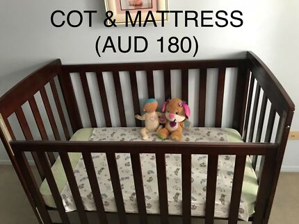 Baby cot and mattress brand new, never been used
