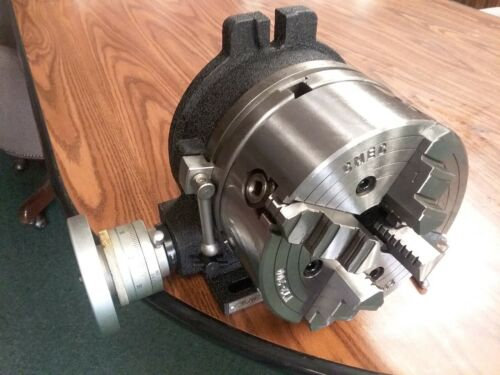 "8"" HORIZONTAL & VERTICAL ROTARY TABLE w. 8""-4 jaw independent chuck 4 T-nuts"