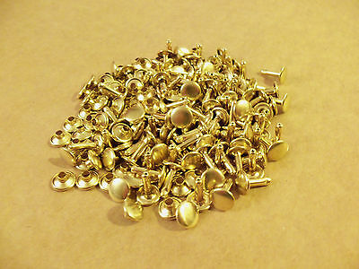 Double Cap Rapid Rivets 7 16  Solid Brass 100 Pack