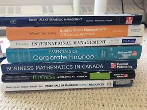 SAIT diploma of business administration textbooks