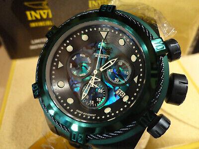 Invicta 25919 Reserve 53mm Blue/Gr Bolt Zeus Abalone Chronograph Bracelet Watch!