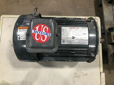 U.s. Electric 5 Hp Motor Unimount 125 3495 Rpm 230460v
