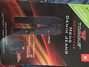 Torque Motorcycle Mens Denim Jeans - MEDIUM $60 Merrylands Parramatta Area Preview