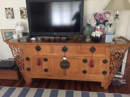 Antique Chinese Elm Altar cabinet