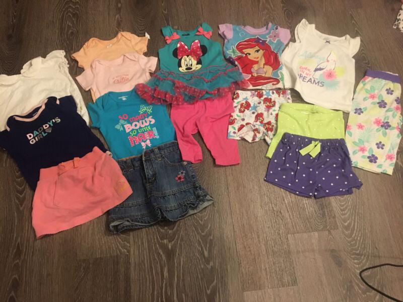 Disney, Carters, Levi's, Oshkosh 12 Month Girl Lot