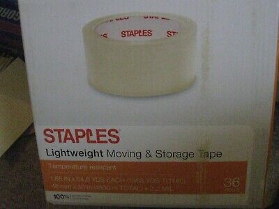 STAPLES LIGHTWEIGHT MOVING & STORAGE PACKING TAPE 1.88