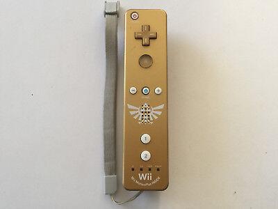 Limited Edition Zelda Skyward Sword Gold Wii MotionPlus Remote Controller