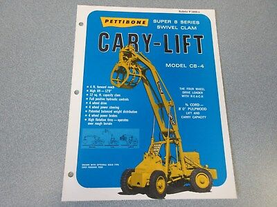 Rare Pettibone Cary Lift Super 8 Sales Sheet