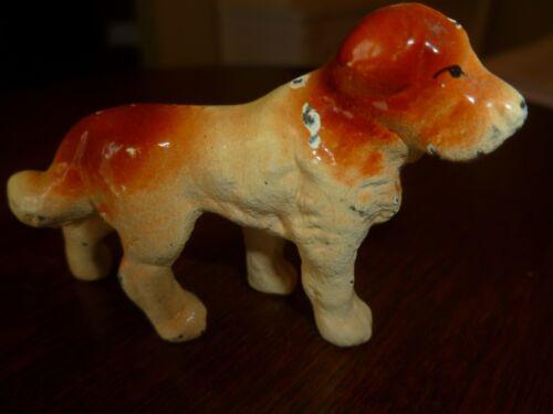 Vintage Small Metal Saint Bernard Figurine  Metal Dog