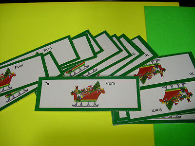 Vintage 15 SLEIGHS SLED xmas scrapbook letters embellishment lot tags gift