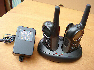 Motorola Walkie Talkie TLKR T6  2 Way Radio System Pair. V. Good Used Condition