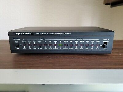Realistic APM-500 2W/200W Audio Power Meter L/R Stereo Vintage Tested