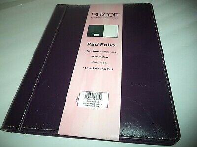 Buxton Professional Genuine Writing Pad Portfolio Purple