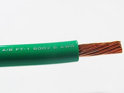 Mtw 6 Awg Gauge Green Stranded Copper Sgt Primary Wire 100 Ft