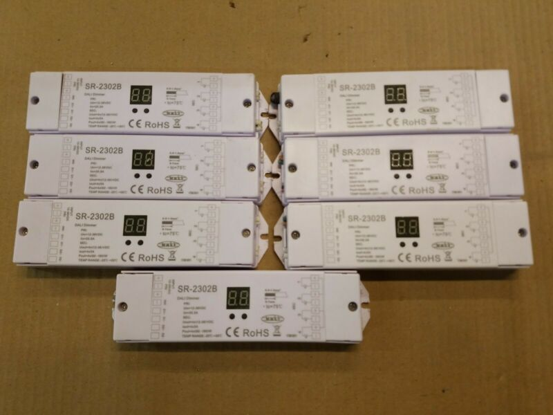 Lot of (7) SR-2302B LED DALI dimmer